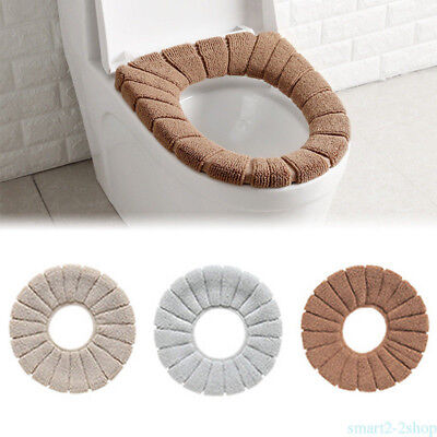 Winter Warmer Comfortable Toilet Seat Cover Thicker For Bathroom Cushion KZ7D