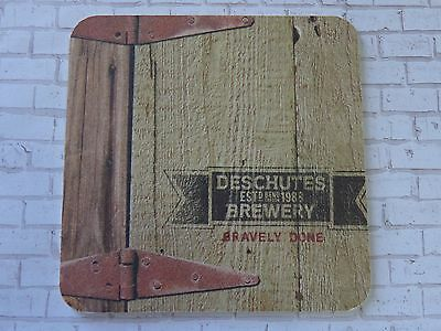 Beer Collectible COASTER ~ DESCHUTES Brewery ~ Bravely Done Since 1988 ~ OREGON
