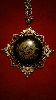 Ancient Vampyre of the Gold Order Pendant Talisman Wish Granting Vampire Haunted