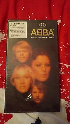 Abba - Thank You For The Music - 4 Cd Box Set With Book - Still Sealed - 1994