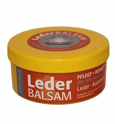 Isentaler LEATHER BALSAM 200ml Dose with real bee wax for Leather Boots Rubber