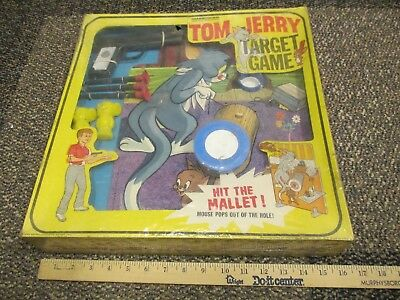 TOM & JERRY 1965 Chuck Jones cartoon MGM Transogram target playset MIB SEALED