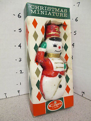 Capri 1960s Christmas figural candle MIB unused SNOWMAN SOLDIER 5""