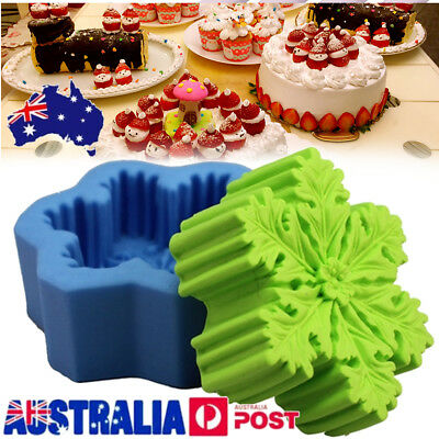 3D Christmas Snowflake Silicone Soap DIY Mold Handmade Candle Soap Mold Mould
