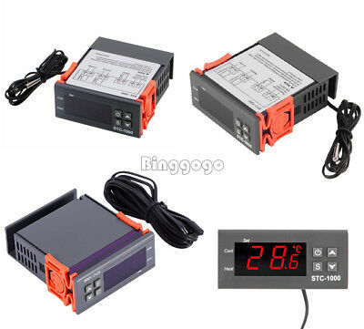 1Stks 12V/24V/110V/220V STC-1000 Digital Temperature Controller Thermostat w/NTC