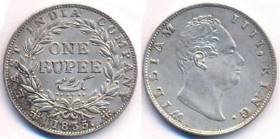 Indian One rupee coin made 1835