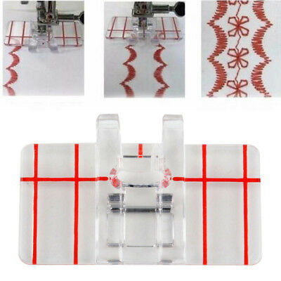Nice Clear Plastic Parallel Stitch Foot Presser For Home Domestic Sewing Machine