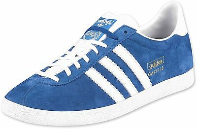 Details about Adidas Gazelle OG Suede Mens Trainers Royal BlueWhite UK 9.5