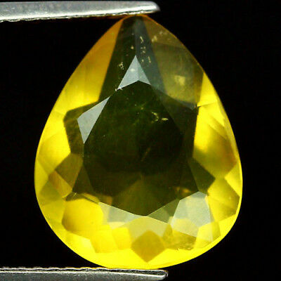 3.68 Ct Natural! Yellow Mexico Opal Pear