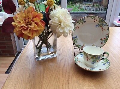 Vintage Plant Tuscan c1936 China Trio Tea Set made in England
