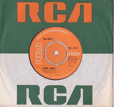 "The Sweet - Funny Funny Uk Rca Records 7"" Single Mint"