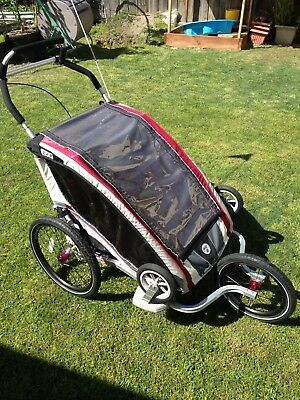 Chariot Cx2 Red Child Bike Trailer/pram/jogger