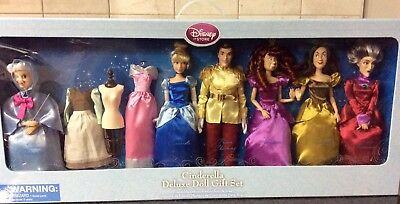 Disney Store Cinderella Deluxe Doll Gift Set (Rare Set)