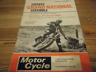 05.06.1966   Grand National Scramble - Signed Programme - Arthur Browning & 5