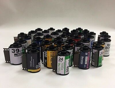 40x Empty 35mm Film Cartridge for Respooling / Wedding Invites
