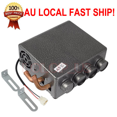 24V Universal Car Underdash Compact Heater + Speed Switch Defroster Demister AU