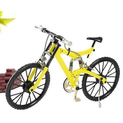 1:8 Alloy Diecast Bicycle Model DIY Assembly Mountain Bike Kit Decor Yellow