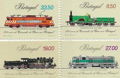 PORTUGAL 1981 125 Years of the Railway Train Stamps MNH
