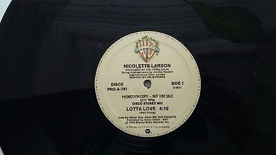 "NICOLETTE LARSON ""Lotta Love"" 12 inch single PRO-A-781 (2012)"