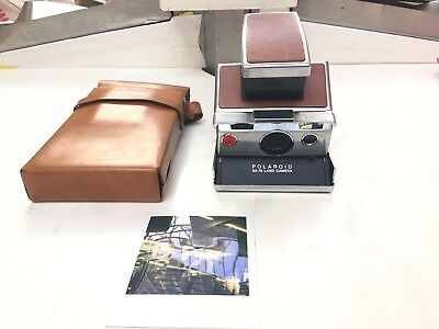 POLAROID SX-70 land camera 1977 with ORIGINAL BAG, WORKS PERFECTLY, TESTED!