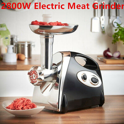 AU 2800w Commercial Electric Stainless Steel Meat Grinder Multifunctional Mincer