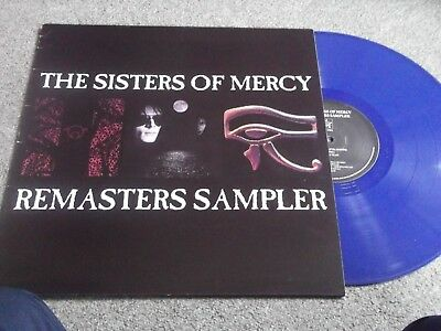 The Sisters Of Mercy - Remasters Sampler Lp Blue Vinyl Promo Gothic Rock Rare!
