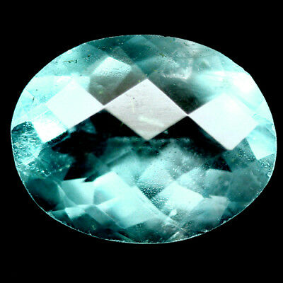 4.29 Ct Natural! Green China Fluorite Oval Facet With Checkerboard Table