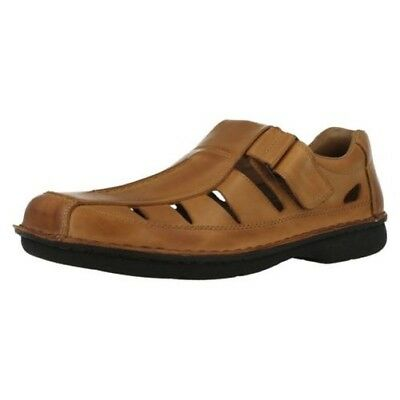 Rieker 10557 Antistress Mens Leather Closed Sandals