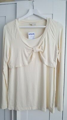 Jojo maman bebe nursing feeding top BNWT cream