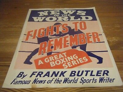 News Of The World  - Fights To Remember - Boxing Series 4 Page Large Pull Out