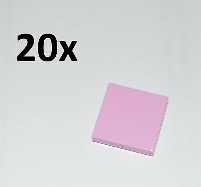 Lego Parts - 20X 2X2 Bright Pink Tiles/flat Building Pieces/smooth Panels/3068