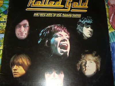 """ROLLED GOLD, THE VERY BEST OF THE ROLLING STONES on 12"""" vinyl"""