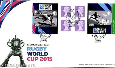 2015 Rugby Great Britain Self Adhesive Booklet Royal Mail Fdc Twickenham Pmk