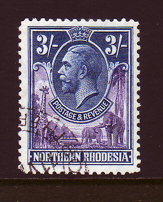 Northern Rhodesia. 1925. Sg 13, 3/- Violet & Blue. Fine Used.