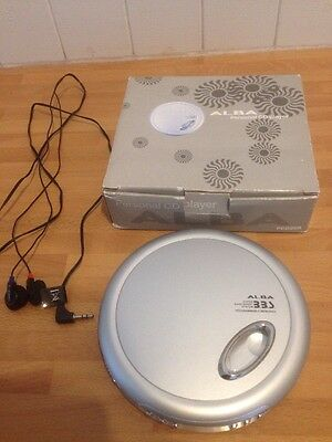 Alba PCD268 Personal CD Player Complete With Headphones Boxed.