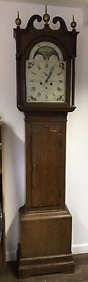 Good Looking Light Figured Oak 8 Day Grandfather Clock. Open To Offers.