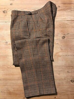 Vintage bespoke tweed  mens wool trousers size 34