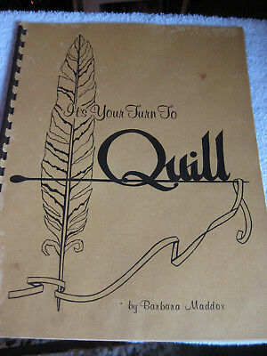 Paper Quill Craft Book 1972 Instructional Patterns Vintage Bohemian Handcraft
