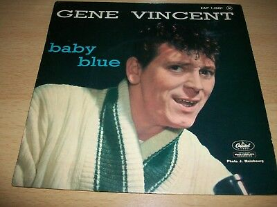 "Gene Vincent""baby Blue""original French Vinyl Ep."