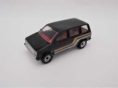Matchbox Superfast DODGE CARAVAN MINI VAN in BLACK with SILVER/GOLD TAMPOS