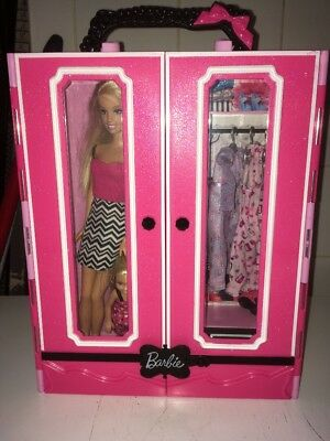 Barbie Carry Wardrobe With Dolls And Accessories Included