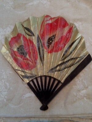 1930's French Art Deco Advertising Fan Moet & Chandon Champagne