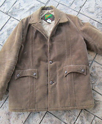 VTG 1960's -70s Cordor By Mr Murray Brown Corduroy Insulated Mens Jacket Size 44