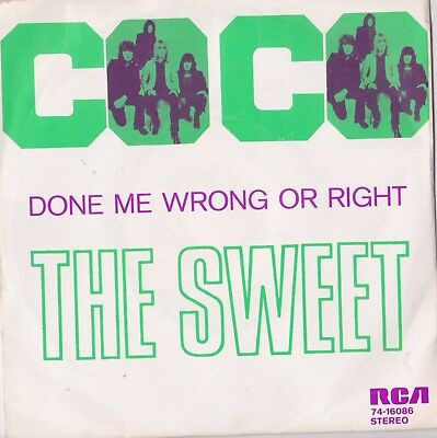 "The Sweet - Co Co Dutch Picture Sleeve 7"" Single Mint"