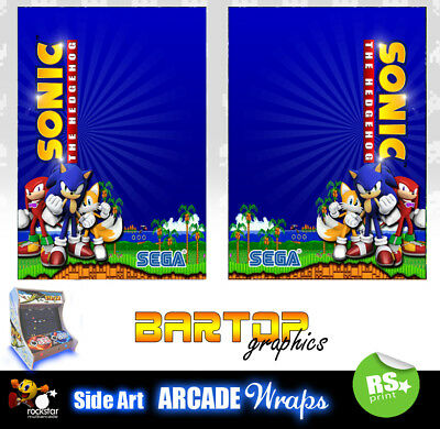 Sonic arcade Bartop Sides Arcade Artwork Overlay Graphic Stickers