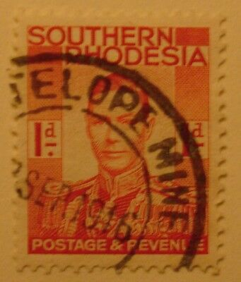 Southern Rhodesia: 1946 Stamp with fine 'Antelope Mine' postmark.
