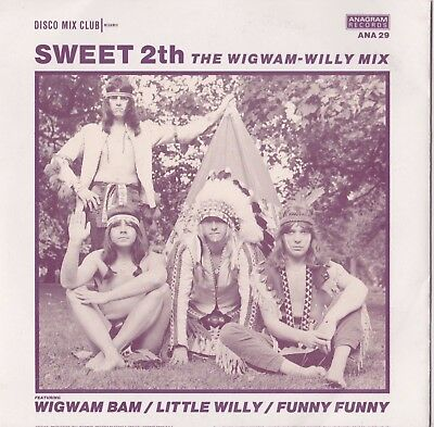"THE SWEET - SWEET 2th THE WIGWAM WILLY MIX 7"" SINGLE MINT"