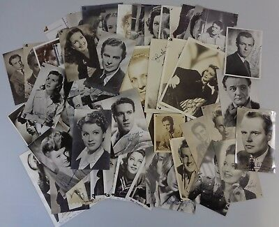 50+ 1940's 50's Actor Actress Studio Hand Signed Photograph Postcard Collection