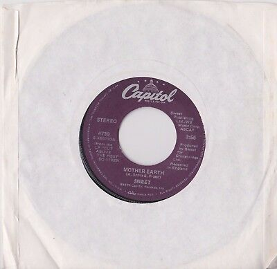 "The Sweet - Mother Earth Capitol Records Usa 7"" Single Mint"