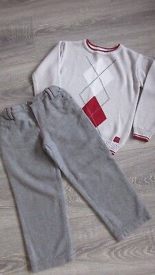 Tutto Piccolo Boys jumper and trouser set - age 4 years